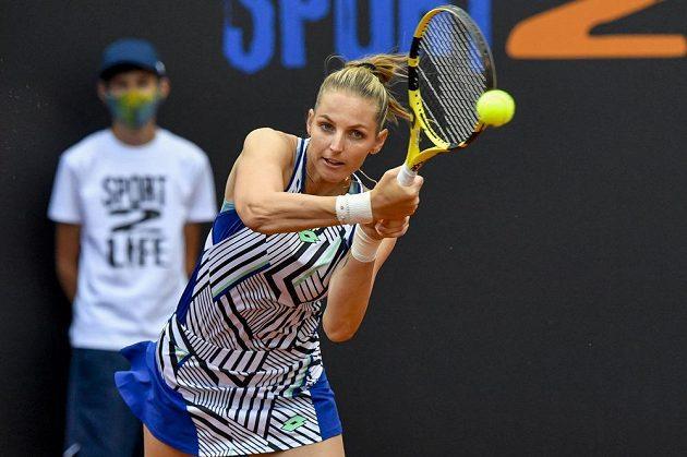 Kristýna Plíšková v utkání proti Tereze Martincové.