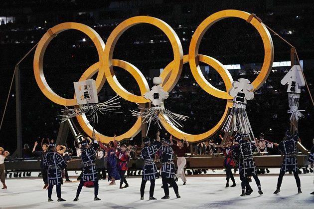 Olympijský tanec během slavnostního zahájení.
