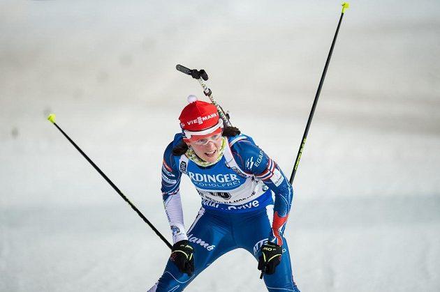 Veronika Vítková během sprintu žen v Novém Městě na Moravě.
