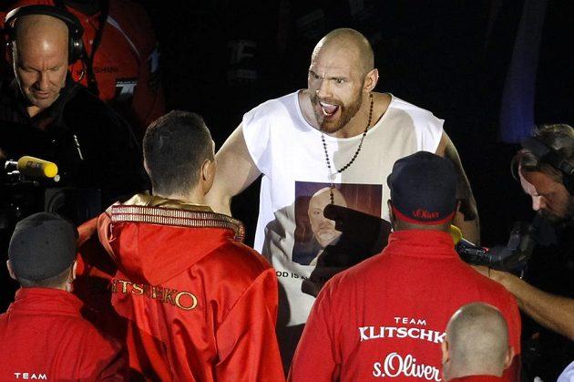 Tyson Fury ještě před zápasem znovu provokoval Vladimira Klička.