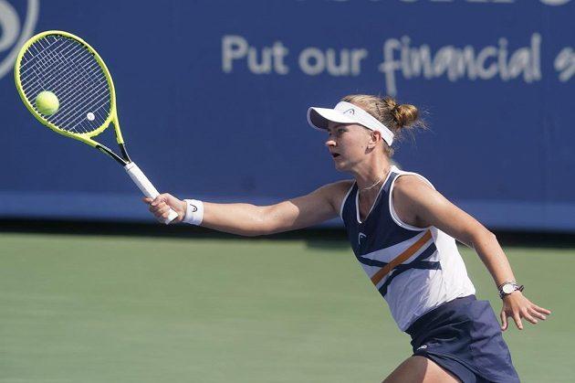 Konec. Tenistka Barbora Krejčíková prohrála ve čtvrtfinále turnaje v Cincinnati se světovou jedničkou Australankou Ashleigh Bartyovou.