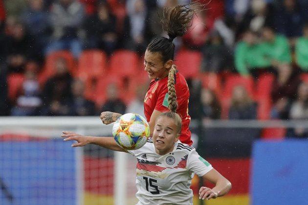 Fotbalistky Německa porazily ve svém druhém utkání na mistrovství světa 1:0 Španělsko.