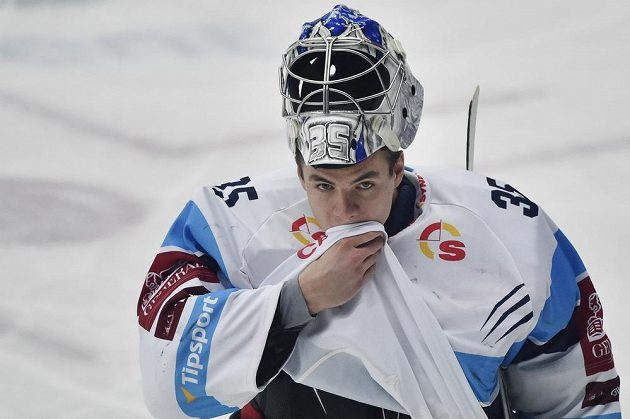 Brankář hokejového Liberce Roman Will.