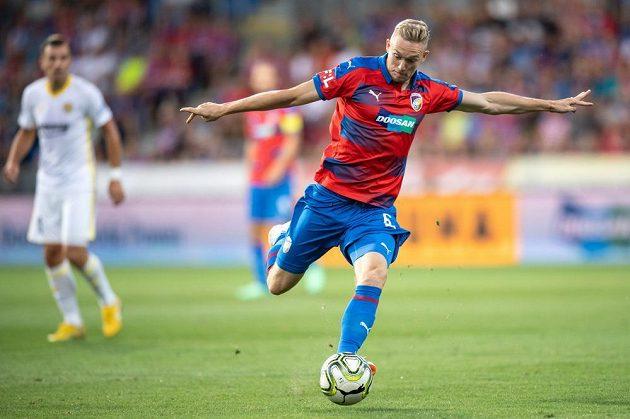 Roman Procházka z Viktorie Plzeň během utkání se Zlínem.
