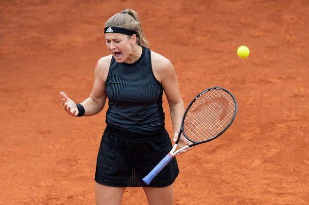 Česká tenistka Karolína Muchová po finále tenisového turnaje J&T Banka Prague Open.