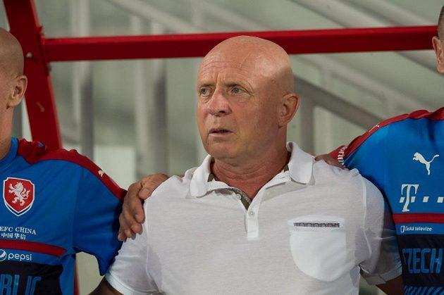 Trenér Karel Jarolím před zápasem s Katarem.
