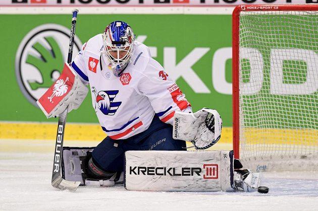 Brankář hokejového Mannheimu Johan Gustafsson.