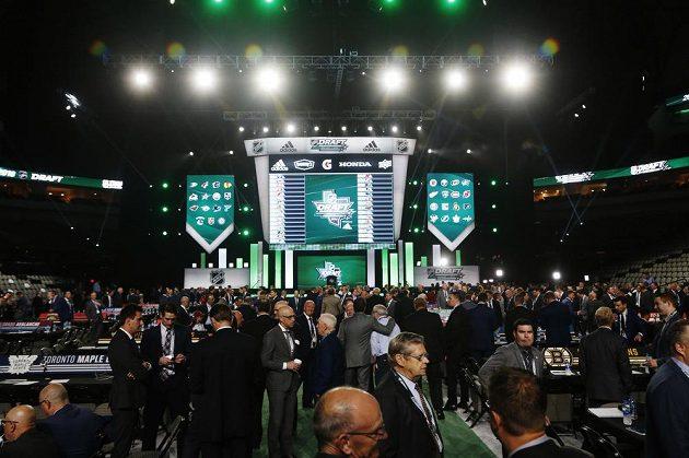 American Airlines Center v Dallasu, dějiště vstupního draftu NHL 2018.