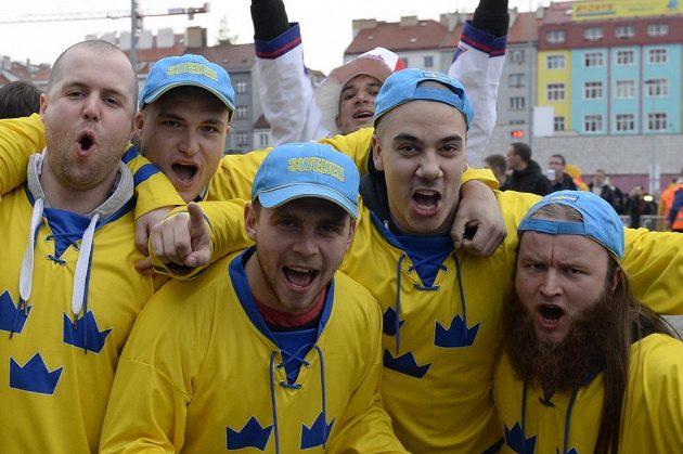 I švédští fanoušci byli na duel s Čechy natěšení.