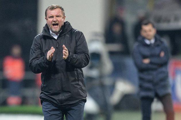 Trenér Viktorie Plzeň Pavel Vrba během utkání základní skupiny Evropské ligy proti FCSB. Plzeň vyhrála 2:0 a slaví postup do jarní části Evropské ligy.