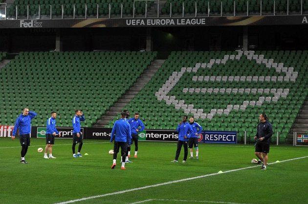 Fotbalisté Liberce na tréninku před zápasem s Groningenem.