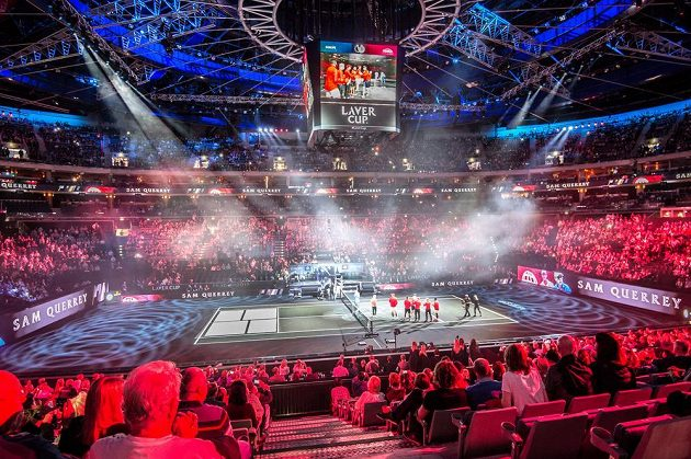 Slavnostní zahájení tenisového turnaje Laver cup O2 areně v Praze.