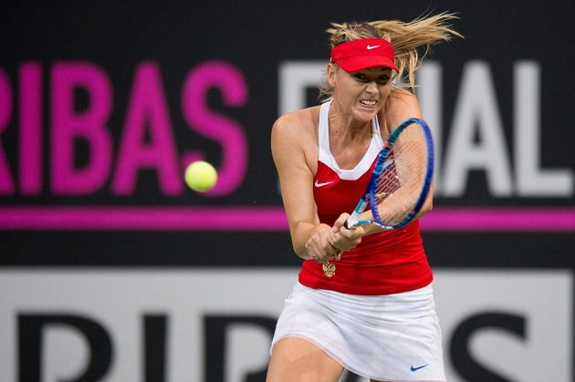 Ruská tenistka Maria Šarapovová během finále Fed Cupu.