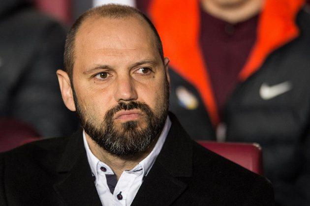 Trenér Sparty Tomáš Požár během utkání s Duklou.