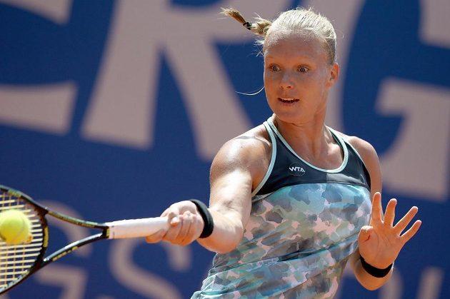 Nizozemská tenistka Kiki Bertensová během finále turnaje v Norimberku.