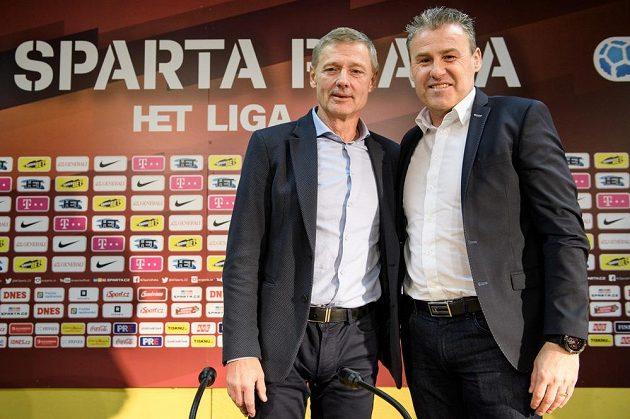 Sportovní ředitel Sparty Praha Zdeněk Ščasný (vlevo) a nový trenér Letenských Pavel Hapal.