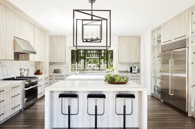 Luxusně zařízený interier nového domu amerického páru Vonnové a Subbana