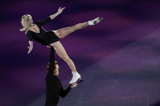 Krasobruslaří zakončili své olympijské představení exhibicí.