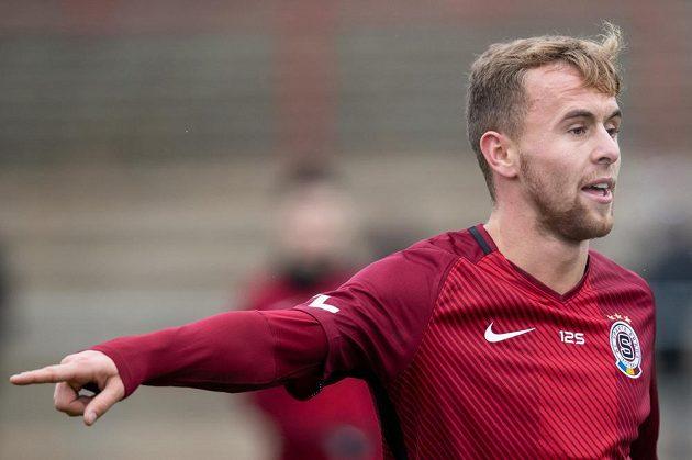 Martin Hašek mladší během utkání Sparta - České Budějovice.