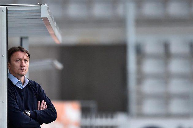 Trenér Slovácka Michal Kordula byl pořádně smutný, jeho tým prohrál v Jablonci.