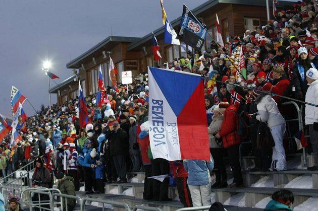 Fanoušci biatlonu v Novém Městě na Moravě.