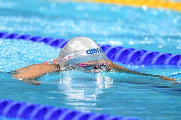 Plavkyně Martina Moravčíková v boji o semifinále MS na 200 metrů prsa.