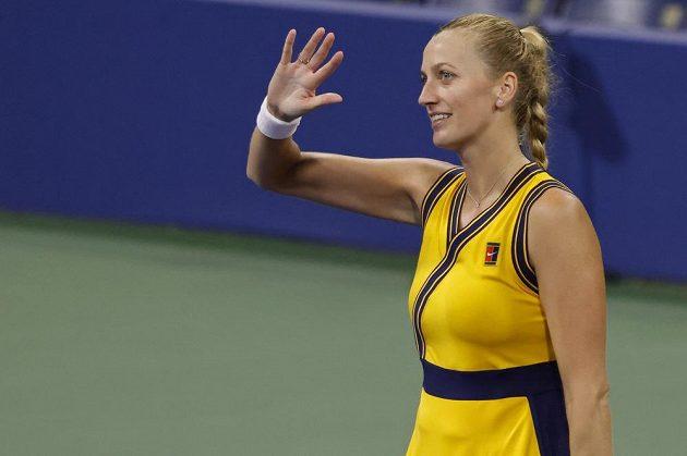 Za hodinu a minutu bylo hotovo. Petra Kvitová mohla slavit postup do 2. kola US Open.