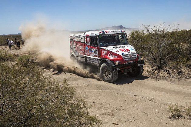 Aleš Loprais na trati letošního ročníku Rallye Dakar.