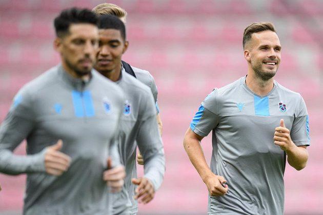 Český obránce Trabzonsporu Filip Novák během tréninku před utkáním 3. předkola Evropské ligy se Spartou.