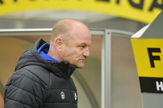 Trenér Liberce Pavel Hoftych během utkání v Plzni.