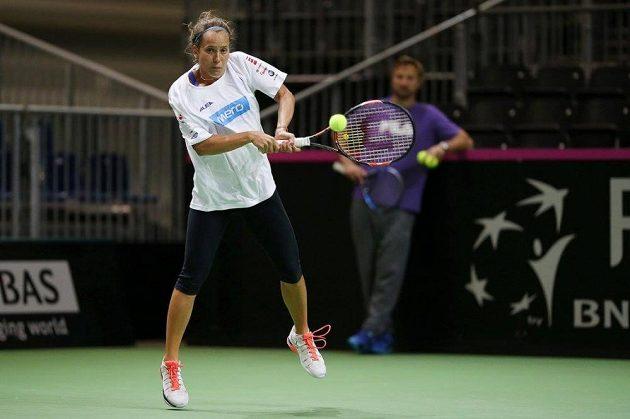 Barbora Strýcová na tréninku.