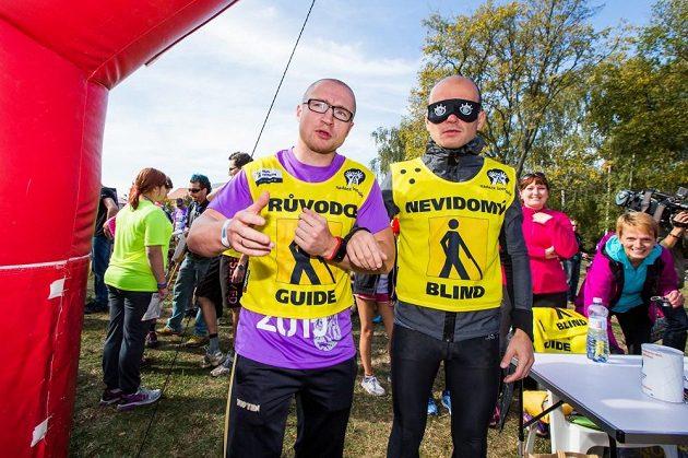 Lukáš Konečný i Dalibor Gondík zažili pocity při běhání, když nevidíte.