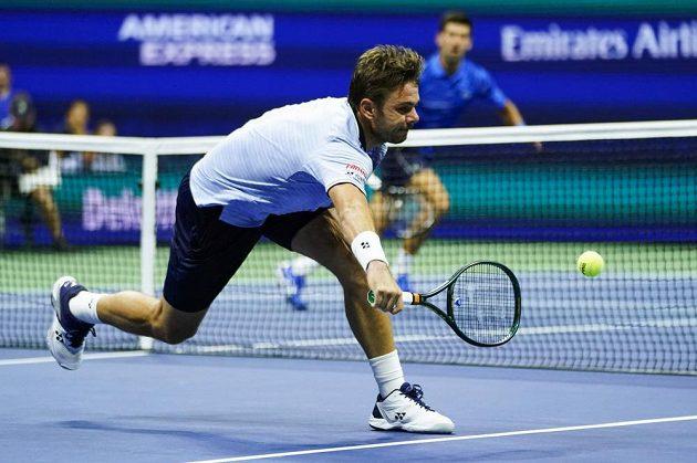 Švýcarský tenista Stan Wawrinka hrál proti Djokovičovi na US Open skvělý tenis.