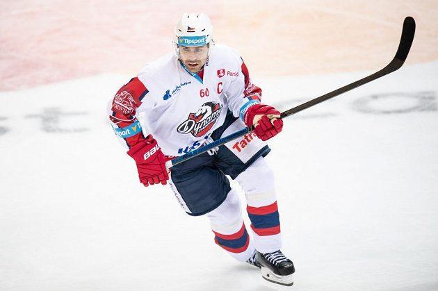 Tomáš Rolinek vstřelil na ledě Sparty v utkání extraligy gól.
