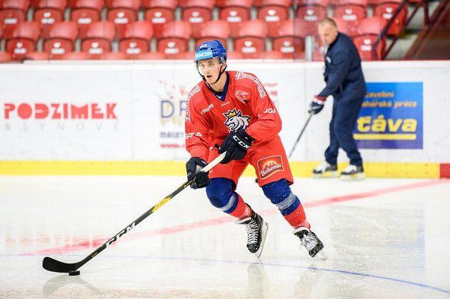 Kristián Reichel během tréninku v rámci letního kempu hokejové reprezentace