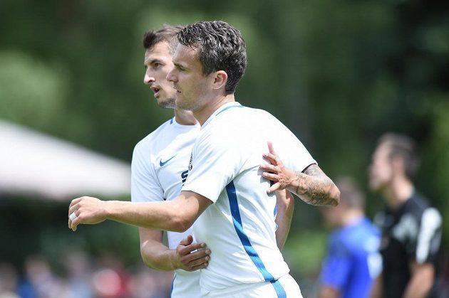 Sparťanský kanonýr David Lafata měl v přípravném utkání proti divizním Karlovým Varům nabito. Při výhře 6:0 nastřílel polovinu gólů letenského mužstva.