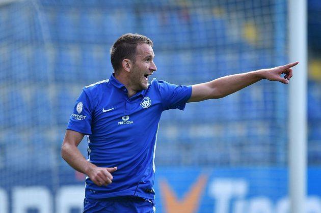 Liberecký Marek Bakoš se raduje z gólu proti Teplicím.