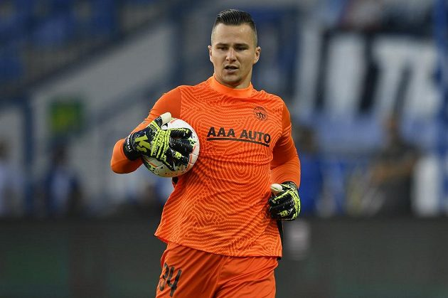 Brankář Milan Knobloch z Liberce.