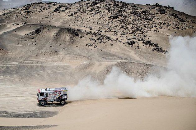 Martin Šoltys na trati 2. etapy Rallye Dakar.