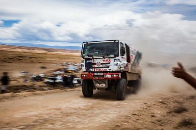 Jaroslav Valtr na trati 6. etapy Rallye Dakar.