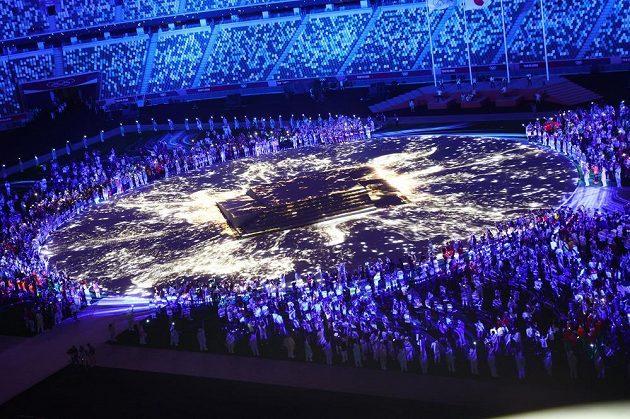 Závěrečný ceremoniál he v Tokiu.