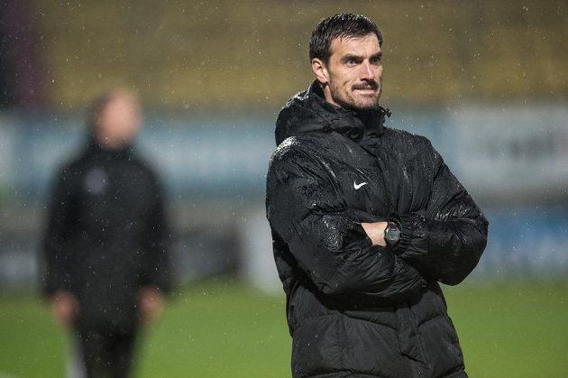 Trenér Příbrami Kamil Tobiáš během utkání se Spartou.