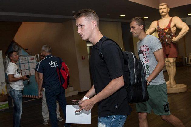 Jakub Jankto a Tomáš Souček během srazu reprezentace do 21 let před nadcházejícím ME v Polsku.