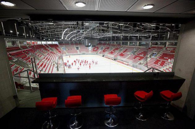 Pohled z VIP boxů třinecké Werk arény.