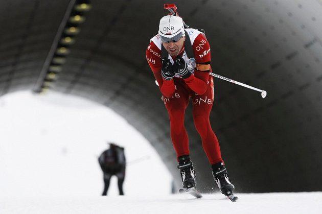 Sprint mužů, na snímku Nor Ole Einar Bjoerndalen.