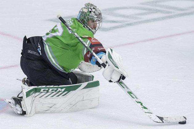 Hokejový brankář Gašper Krošelj z Mladé Boleslavi.