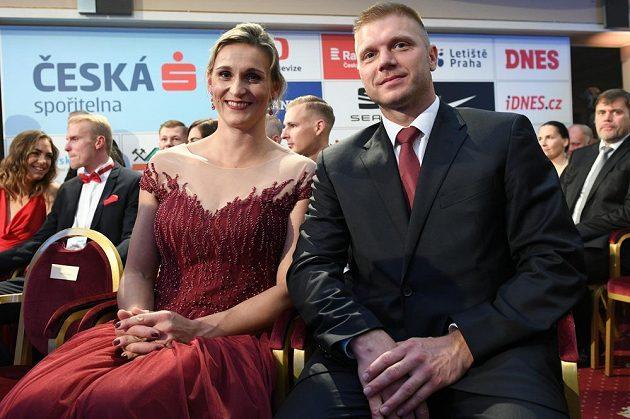 Barbora Špotáková s manželem na slavnostním vyhlášení ankety Atlet roku.