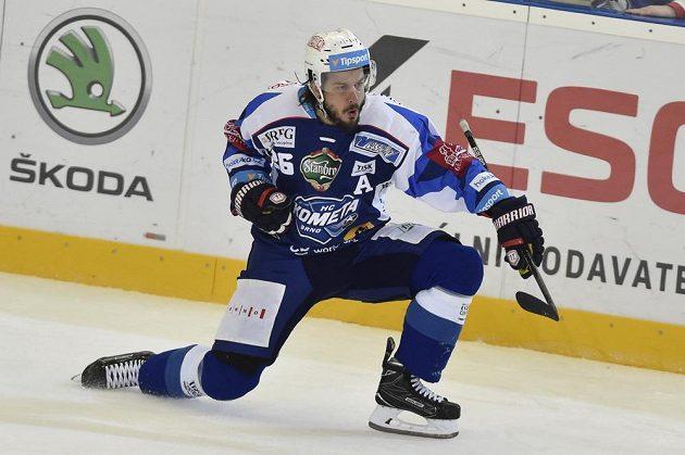 Martin Zaťovič z Brna se raduje z gólu.