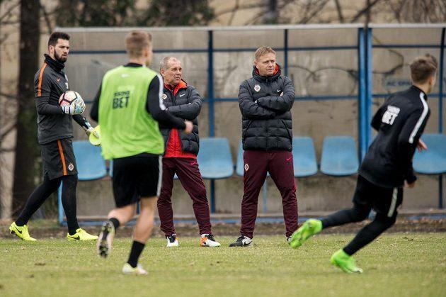 Nový trenér Sparty Petr Rada (vlevo) a asistent Stanislav Hejkal.