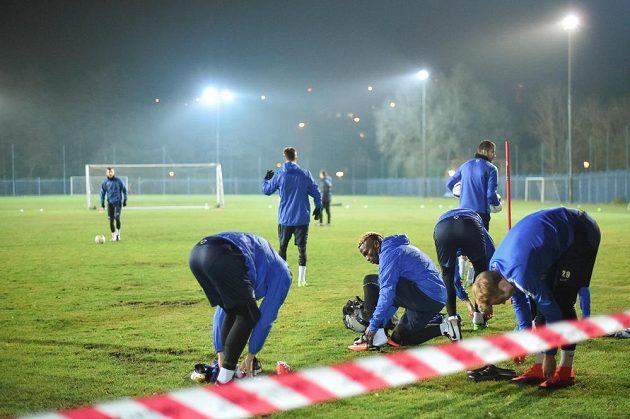 Liberečtí fotbalisté se chystají na duel s Karabachem.